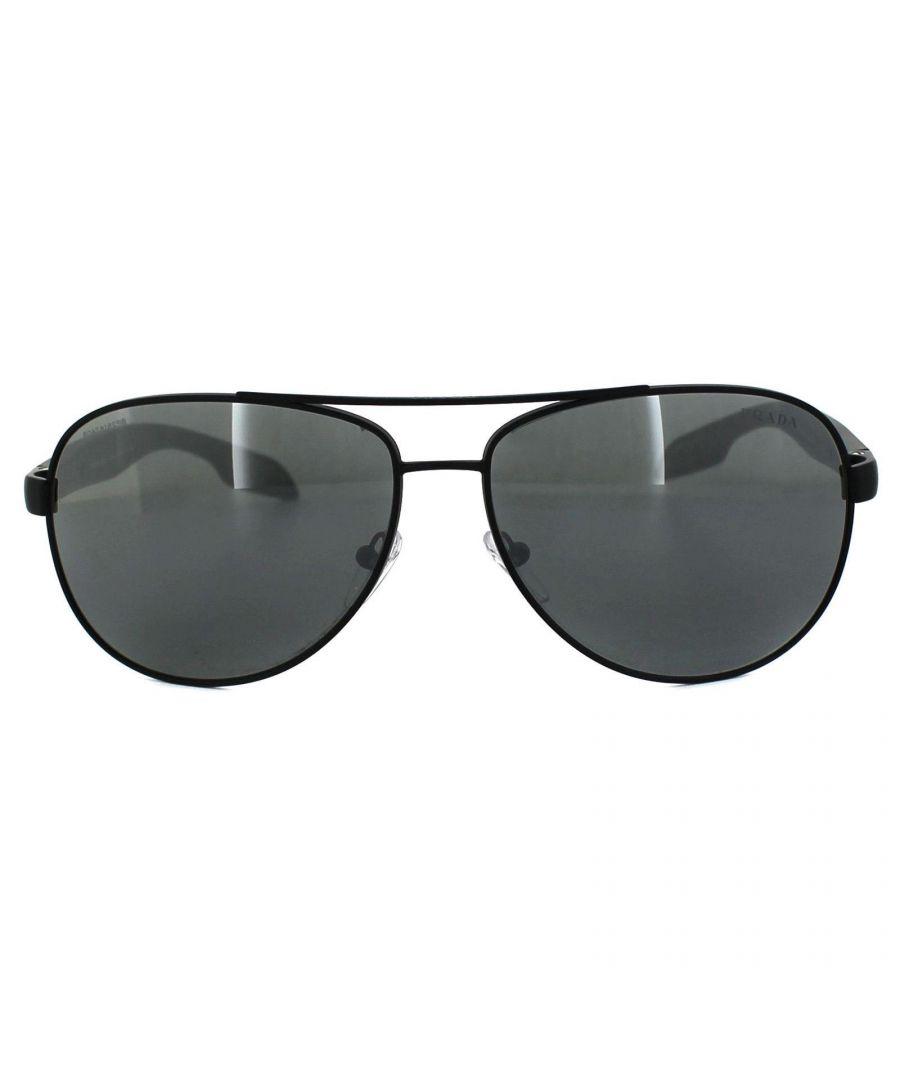 Image for Prada Sport Sunglasses 53PS 1BO7W1 Black Grey