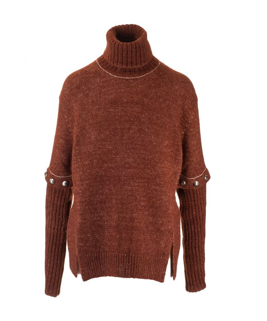Image for CHLOÉ WOMEN'S CHC19WMP39560204 RED WOOL SWEATER
