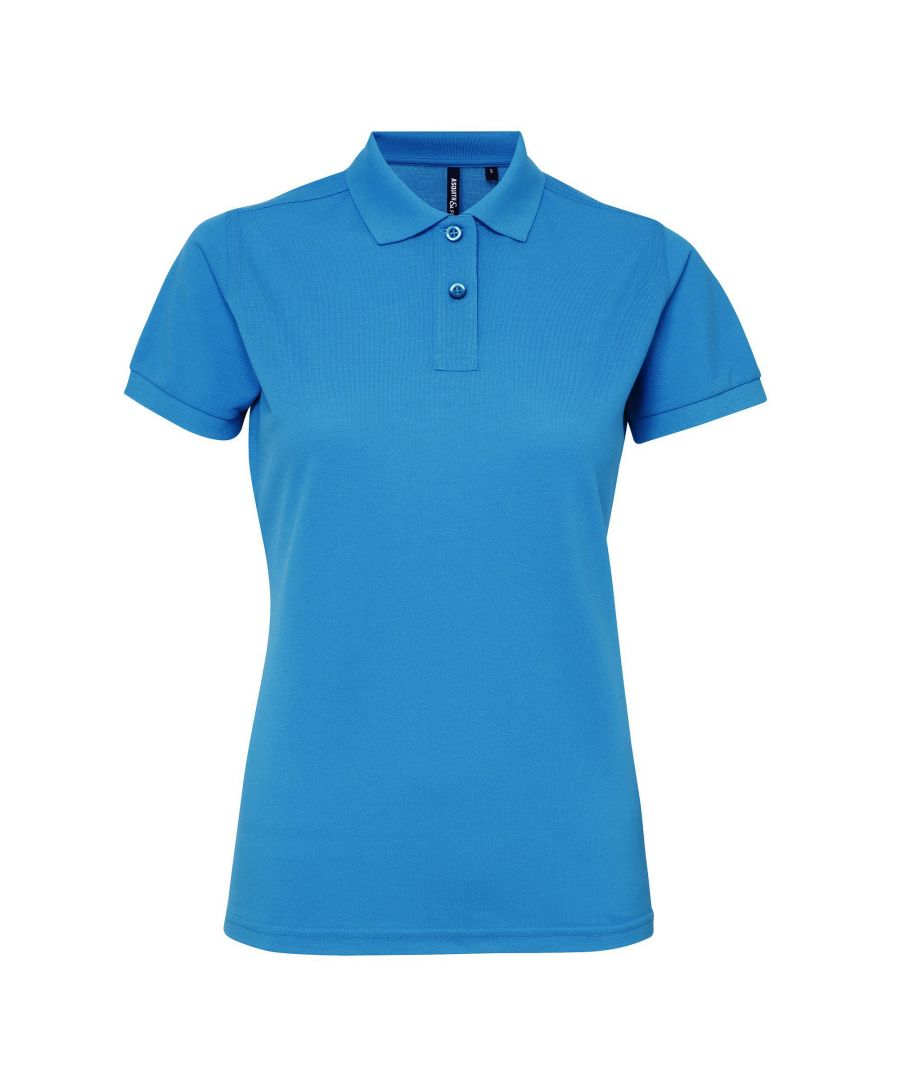 Image for Asquith & Fox Womens/Ladies Short Sleeve Performance Blend Polo Shirt (Sapphire)