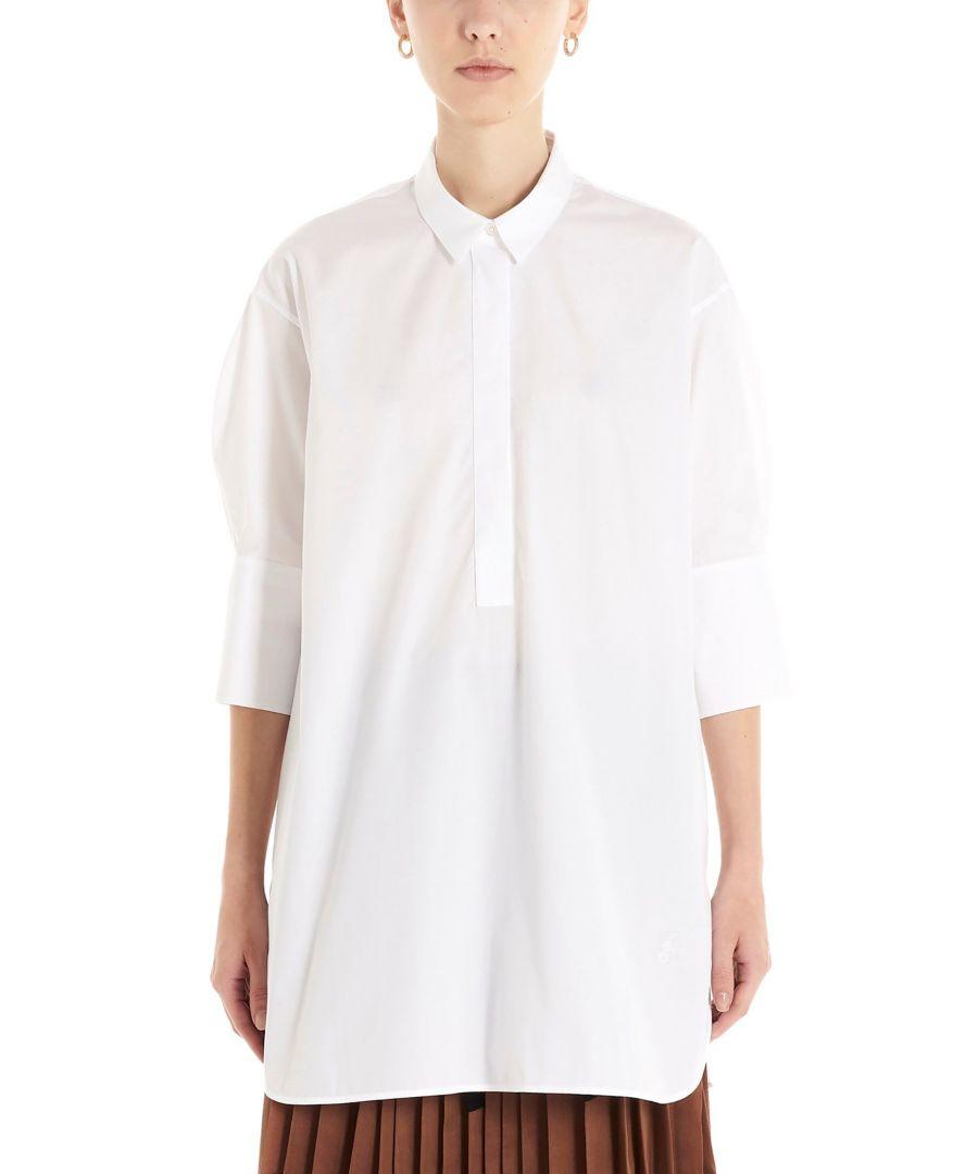 Image for JIL SANDER WOMEN'S JSXQ600405WQ244300100 WHITE COTTON BLOUSE