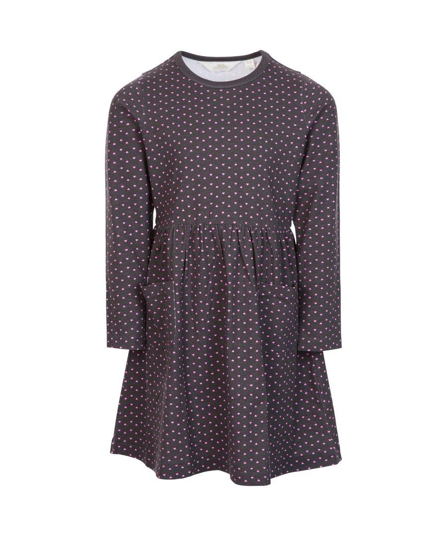 Image for Trespass Girls Forgotten Jersey Casual Dress (Dark Grey/Deep Pink)