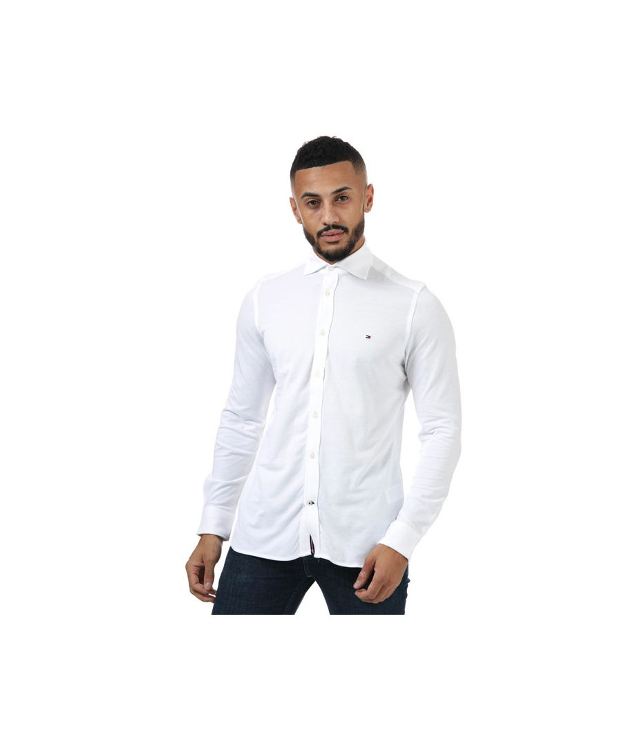 Image for Men's Tommy Hilfiger Long Sleeve Shirt in White
