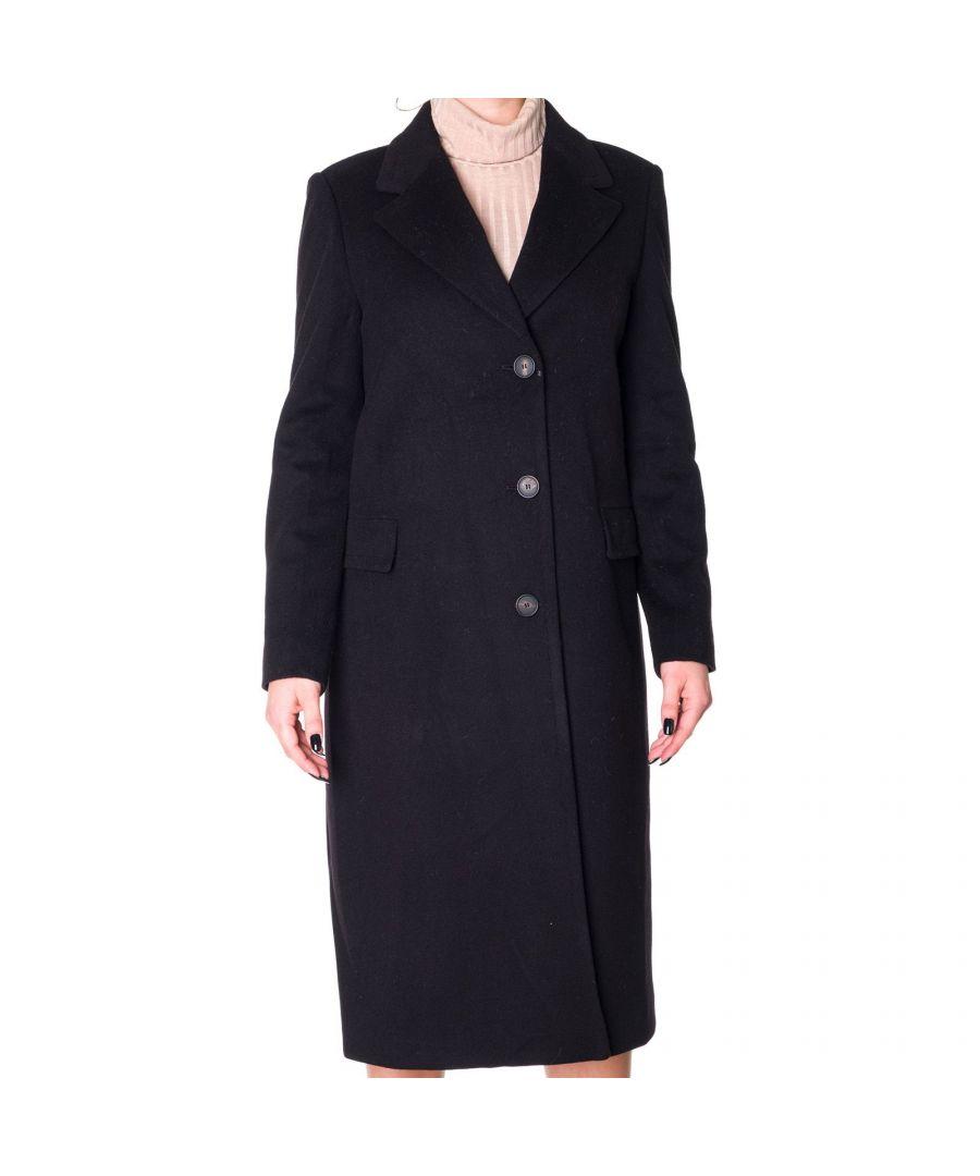 Image for TAGLIATORE WOMEN'S CHARLENE35074N3462 BLACK WOOL COAT
