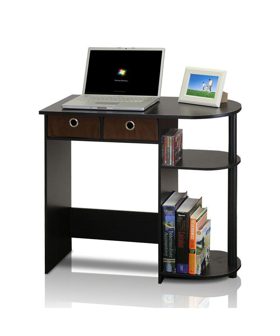 Image for Furinno Go Green Home Laptop Notebook Computer Desk/Table, Espresso/Black/Brown