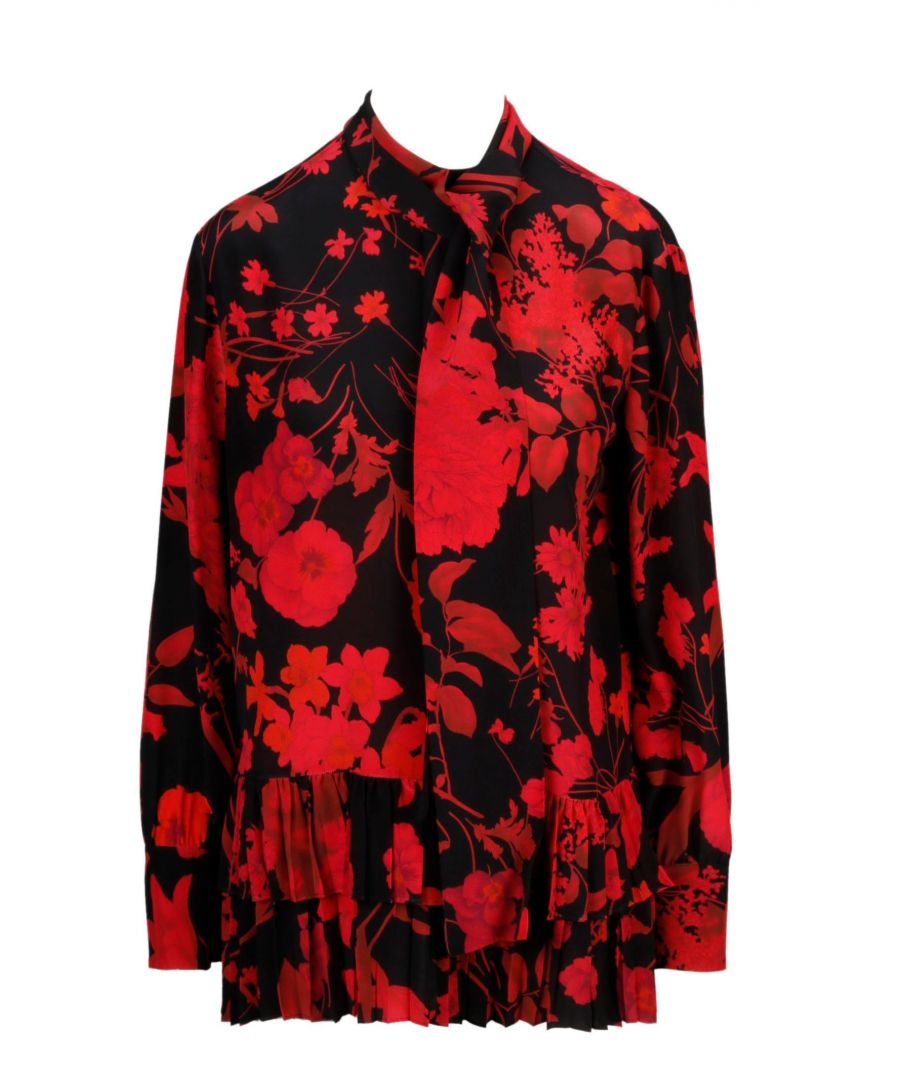 Image for VALENTINO WOMEN'S SB3AE02D4PY0NR RED SILK BLOUSE