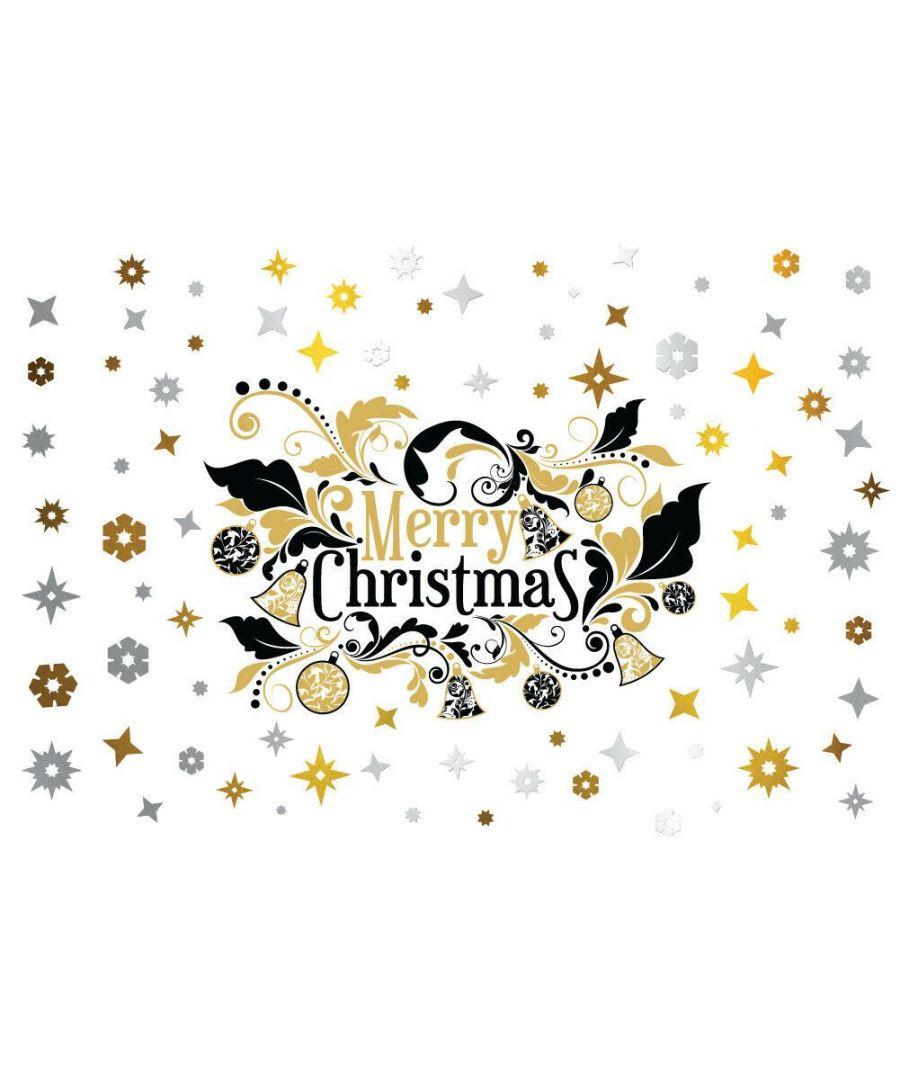 Image for C3W0012 - Elegant Merry Christmas with Metalic Snowflakes - WS6301 + WS3328 + WS3325