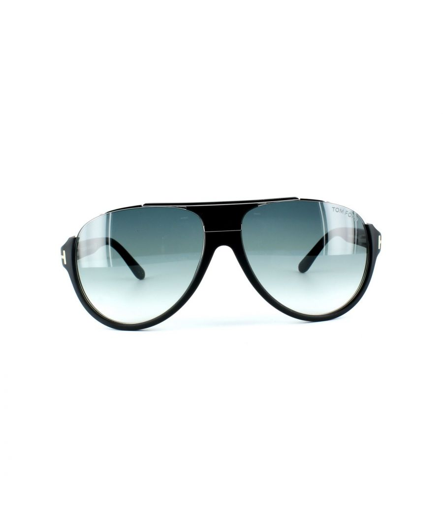 Image for Tom Ford Sunglasses 0334 Dimitry 02W Matt Black Blue Grey Gradient