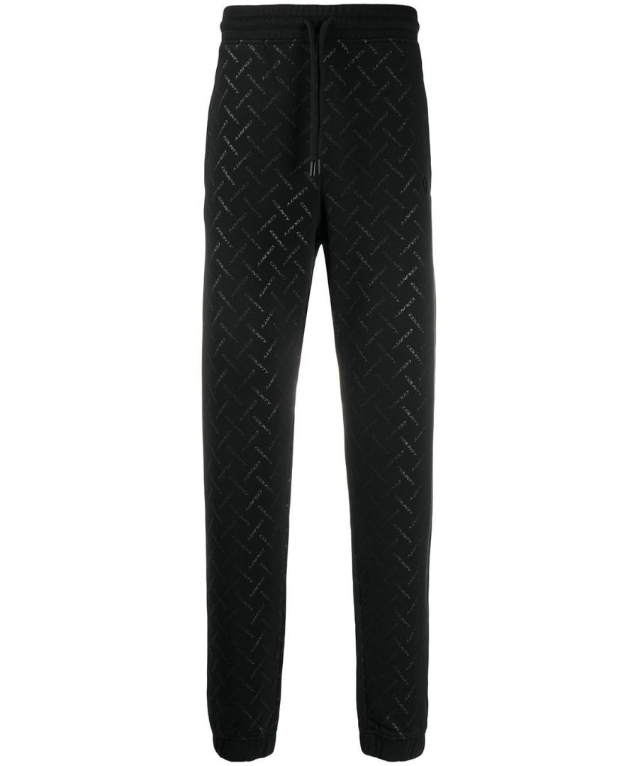Image for MARCELO BURLON MEN'S CMCH010S20FLE0031010 BLACK COTTON JOGGERS