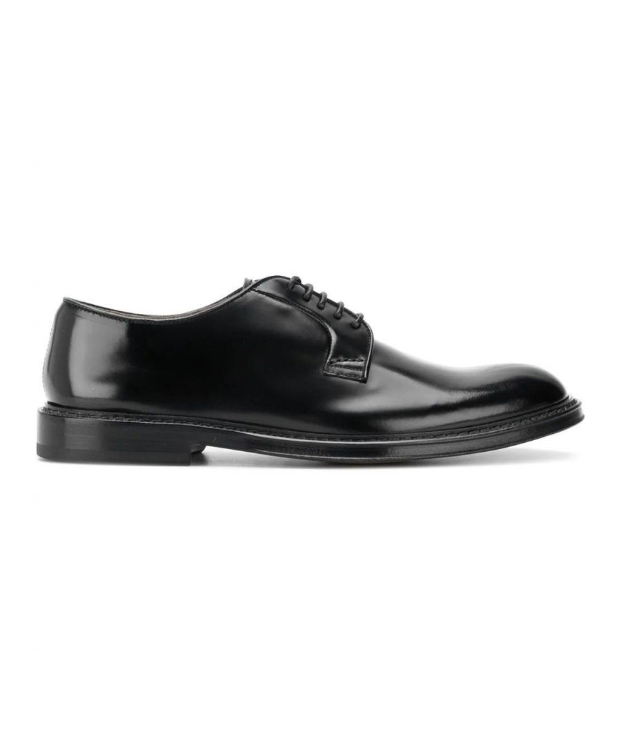 Image for DOUCAL'S MEN'S DU1385PHOEUY007NN00 BLACK LEATHER LACE-UP SHOES