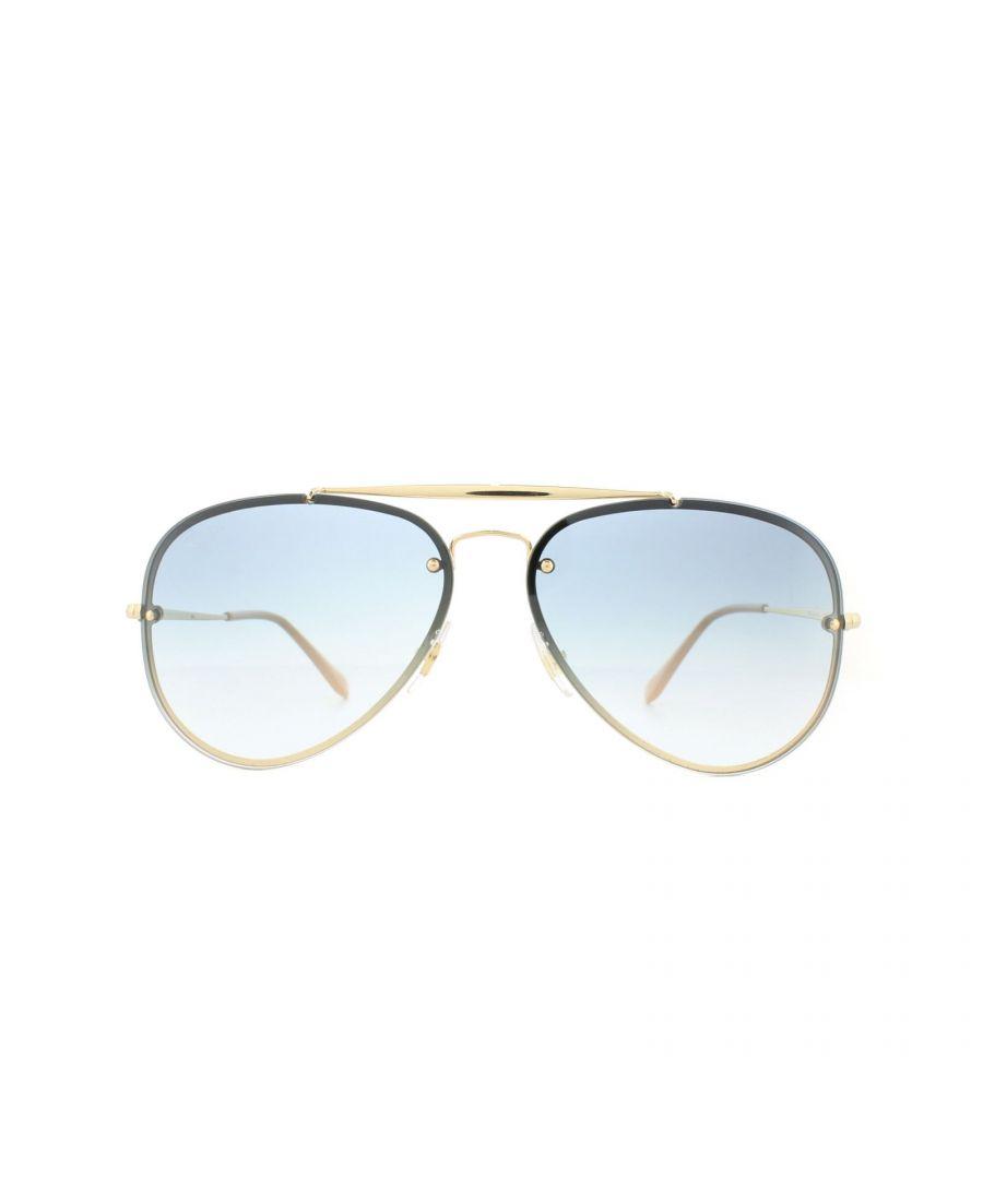 Image for Ray-Ban Sunglasses Blaze Aviator RB3584N 001/19 Gold Light Blue Gradient 58mm