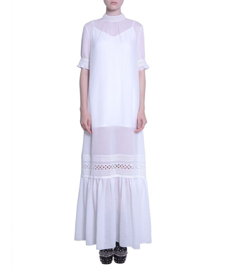 Image for MCQ BY ALEXANDER MCQUEEN WOMEN'S 450680RJF019002 WHITE COTTON DRESS