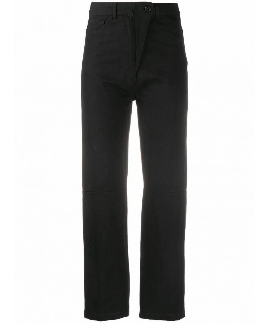 Image for ANN DEMEULEMEESTER WOMEN'S 20011430195099 BLACK COTTON PANTS