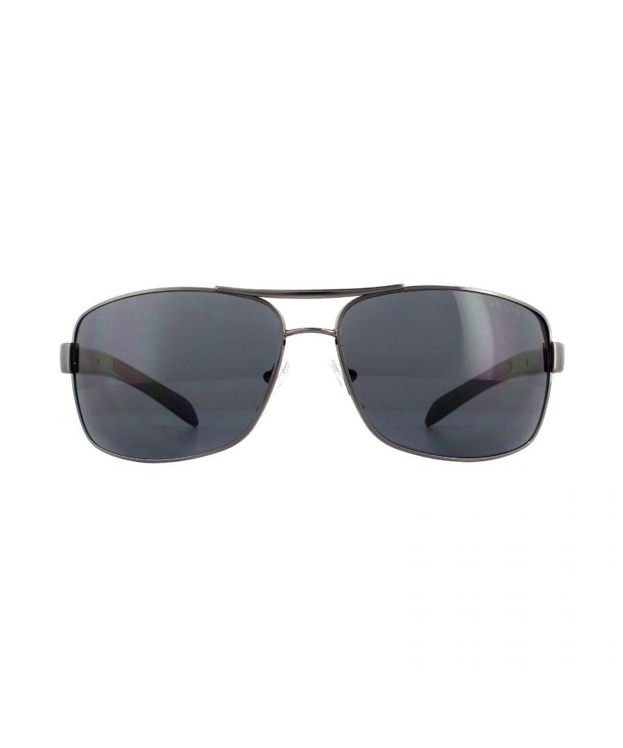 Image for Prada Sport Sunglasses 54IS 5AV5Z1 Gunmetal Grey Polarized
