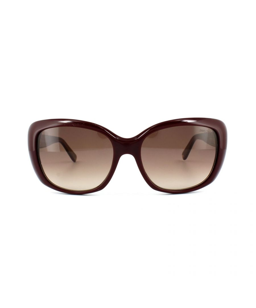 Image for Jimmy Choo Sunglasses Kalia EMU D8 Burgundy Glitter Gold Brown Gradient