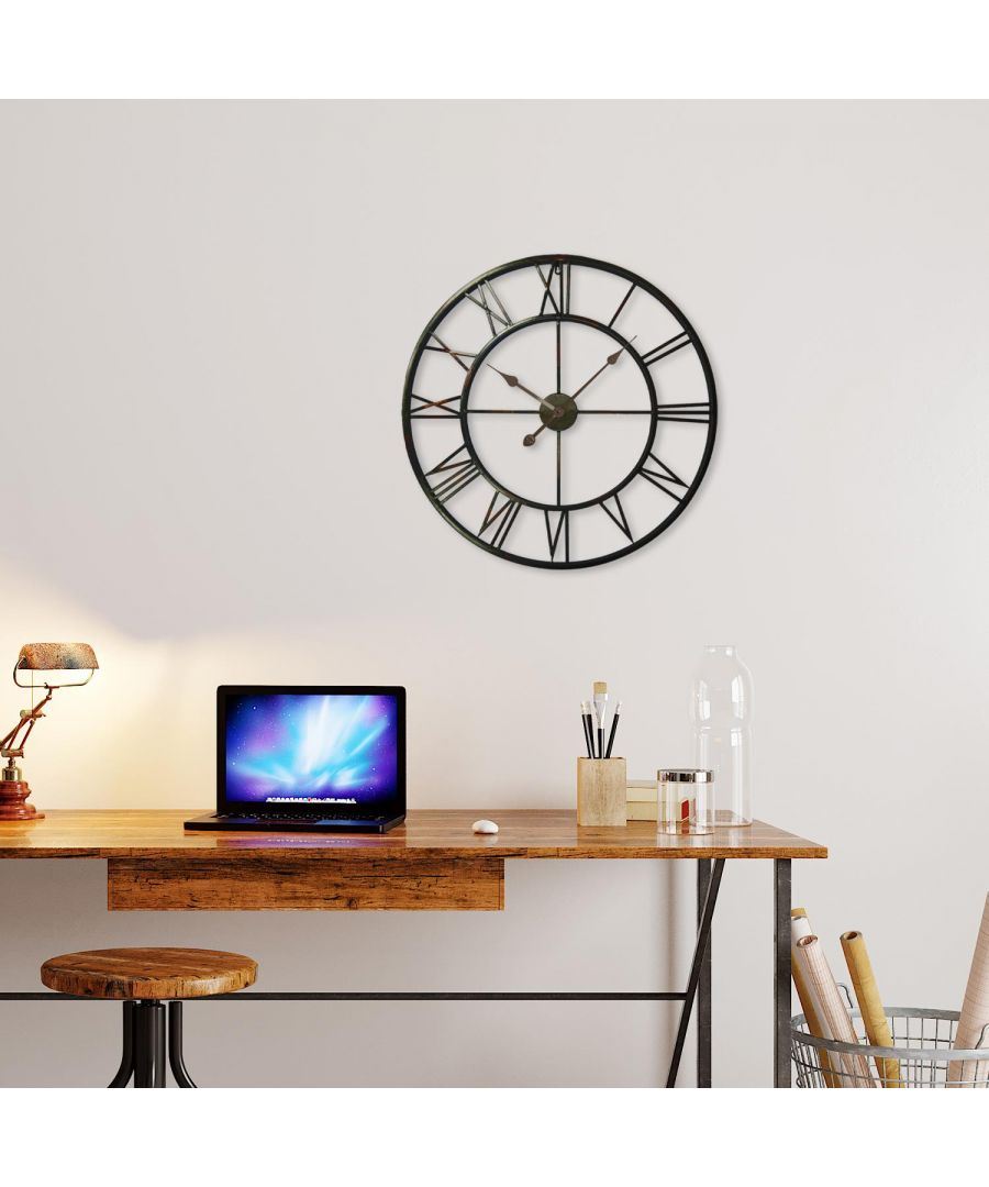 Image for Roman No. Iron Wall Clock 56x56x5cm wall clock, wall clock vintage 56 cm x 56 cm x 5 cm 1 piece