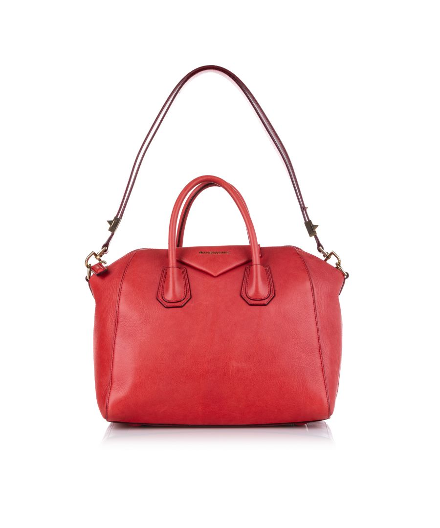Image for Vintage Givenchy Antigona Leather Satchel Red