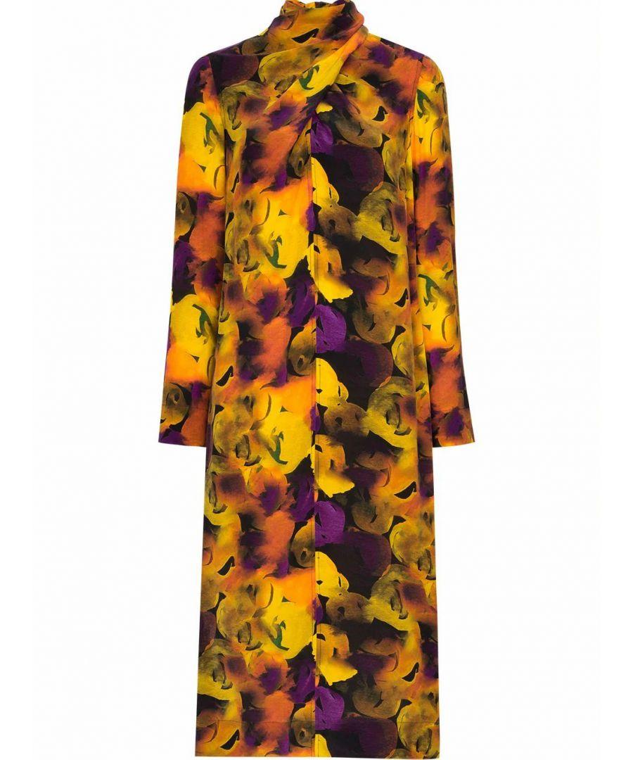 Image for GANNI WOMEN'S F4132336 MULTICOLOR VISCOSE DRESS