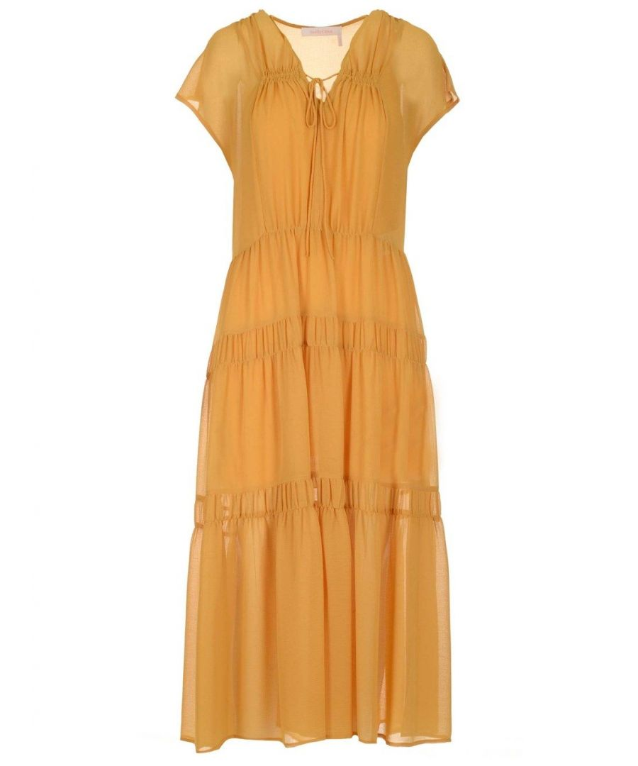 Image for SEE BY CHLOÉ WOMEN'S CHS20URO37025745 YELLOW POLYESTER DRESS