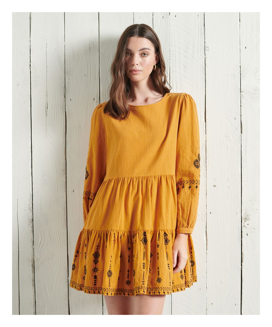 Image for Superdry Anisa Embroidered Dress