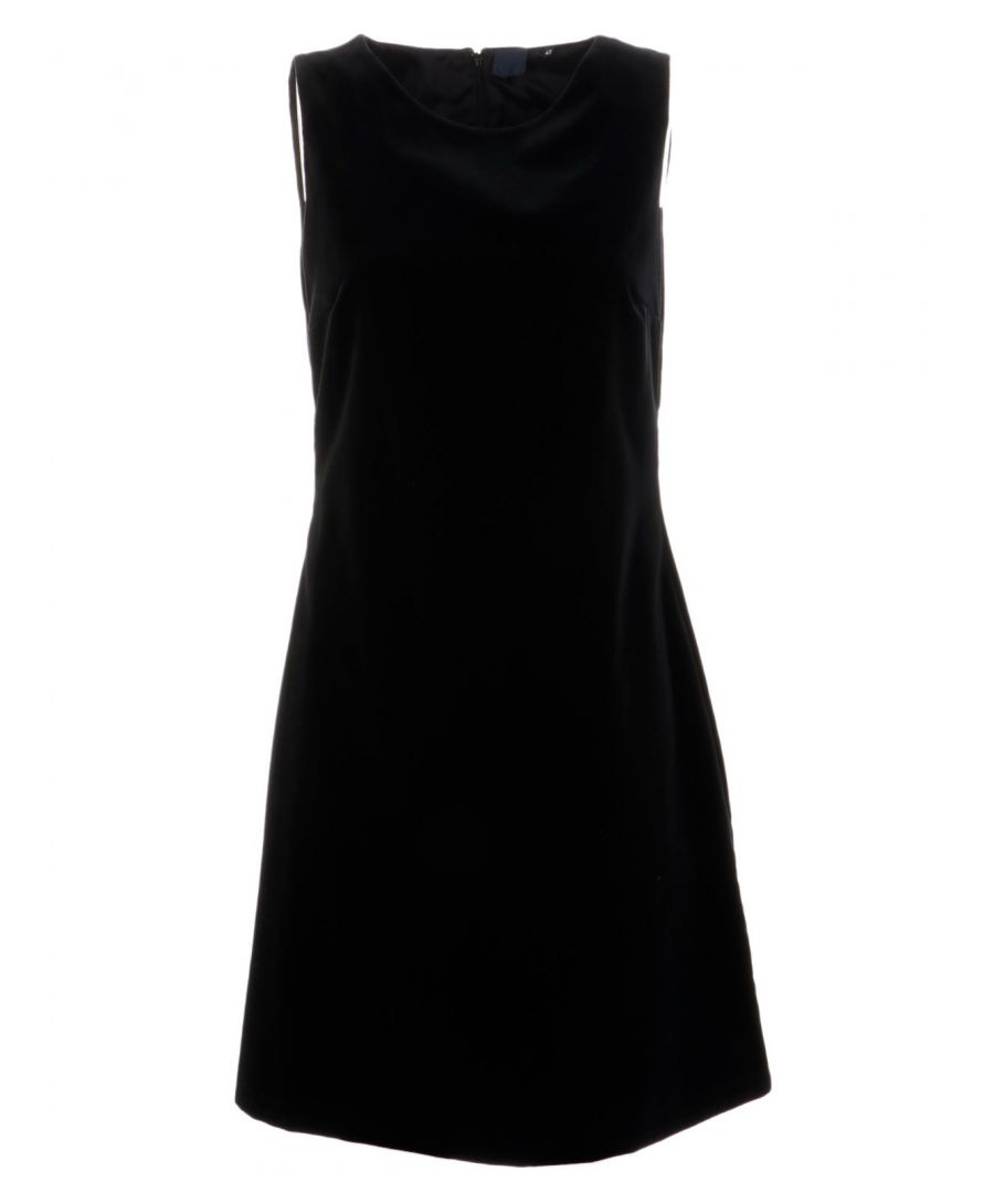 Image for ASPESI WOMEN'S G2937G56101241 BLACK COTTON DRESS