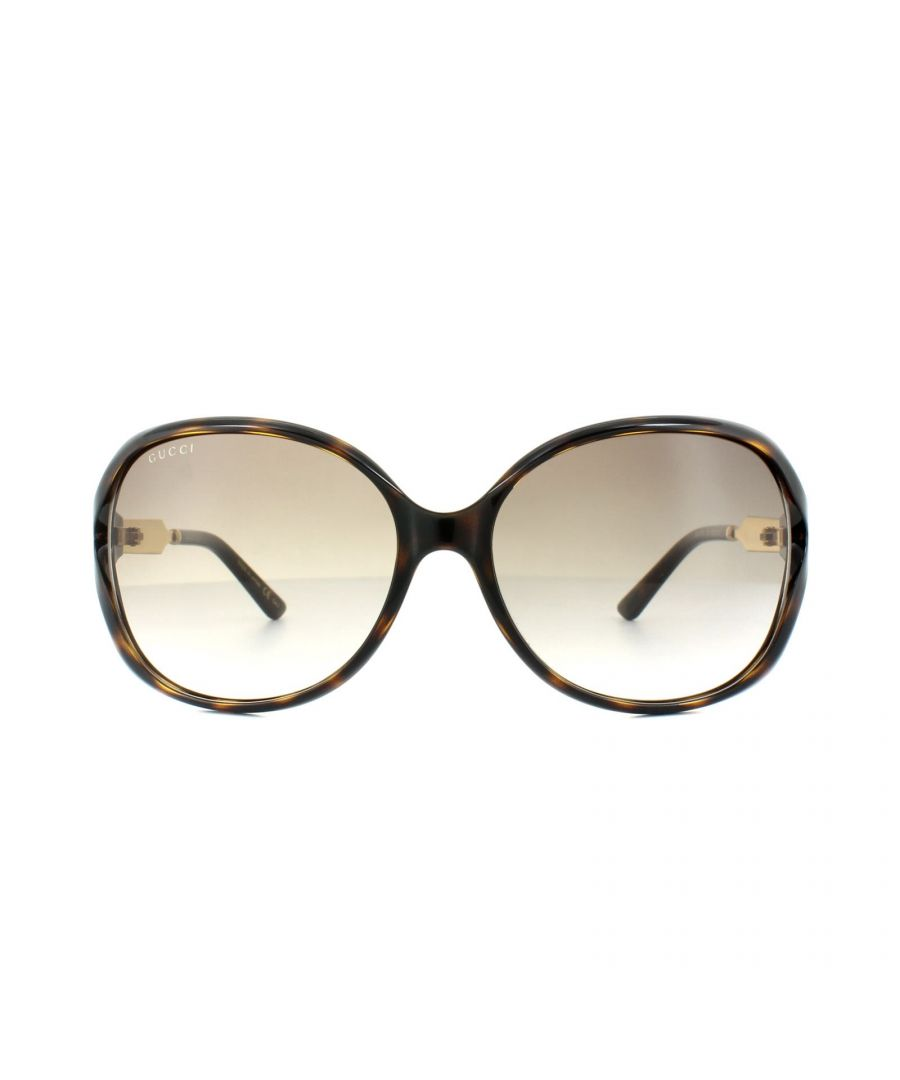 Image for Gucci Sunglasses 0076S 003 Havana Gold Brown Gradient