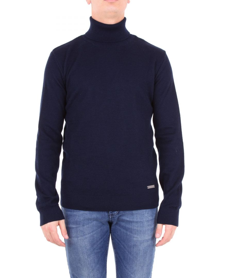 Image for ALESSANDRO DELL'ACQUA MEN'S AD0306DM0001BLUE BLUE WOOL SWEATER