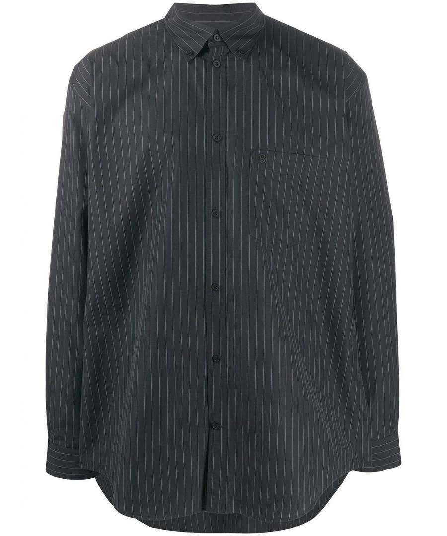 Image for BALENCIAGA MEN'S 621924TIM041070 BLACK COTTON SHIRT