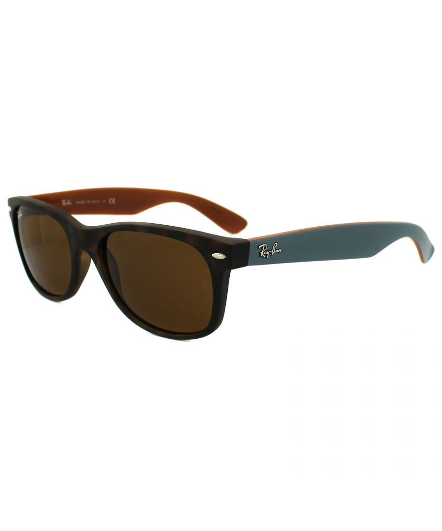 Image for Ray-Ban Sunglasses New Wayfarer 2132 6179 Matt Havana Brown 55mm