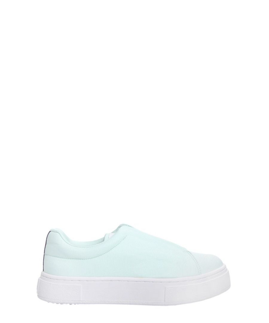 Image for EYTYS WOMEN'S DSFA004 LIGHT BLUE LEATHER SNEAKERS