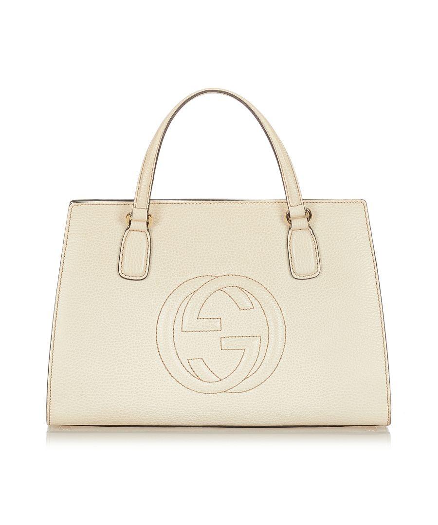 Image for Vintage Gucci Soho Leather Satchel White