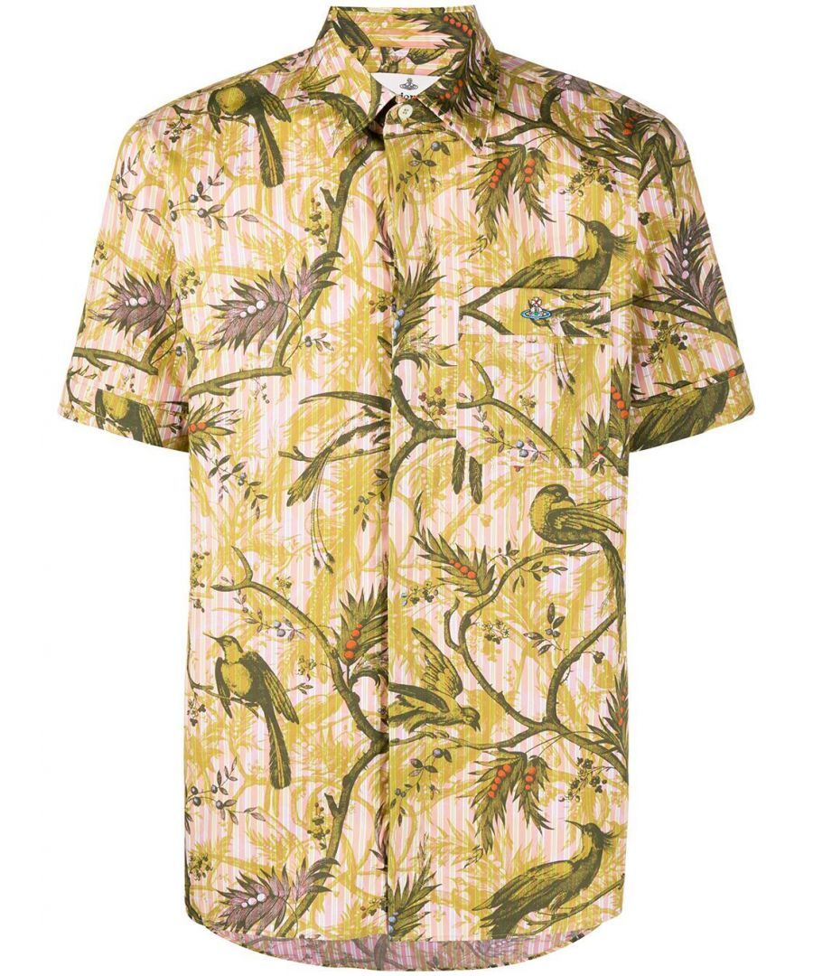 Image for VIVIENNE WESTWOOD MEN'S S25DL0493S52729011S YELLOW COTTON SHIRT