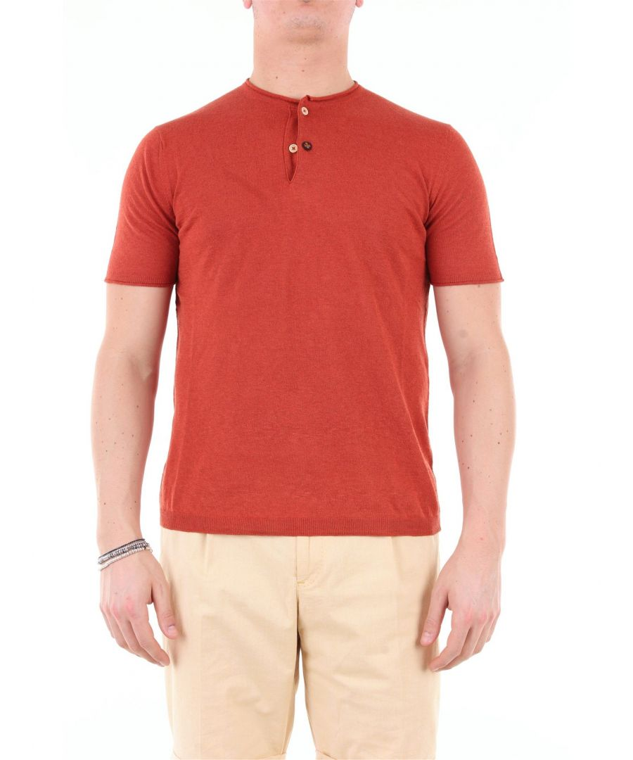 Image for HERITAGE MEN'S 0234S2ZMATTONE BROWN COTTON T-SHIRT
