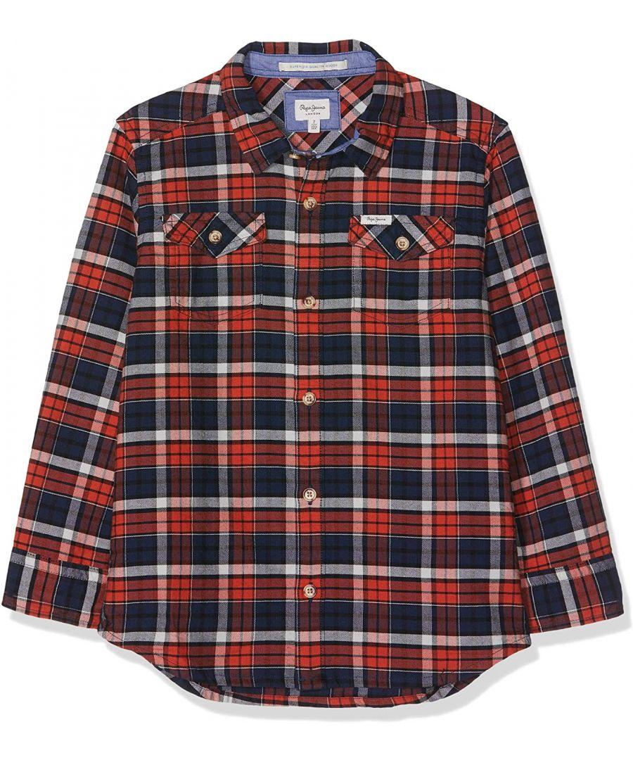 Image for Pepe Jeans Boys Kirk Jr Shirt in Orange