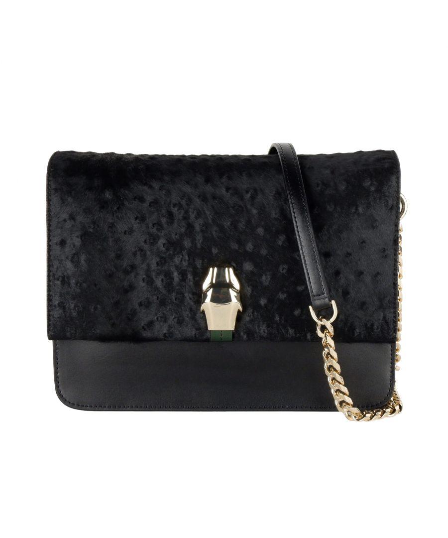 Image for Cavalli Class Black Chain Shoulder Bag