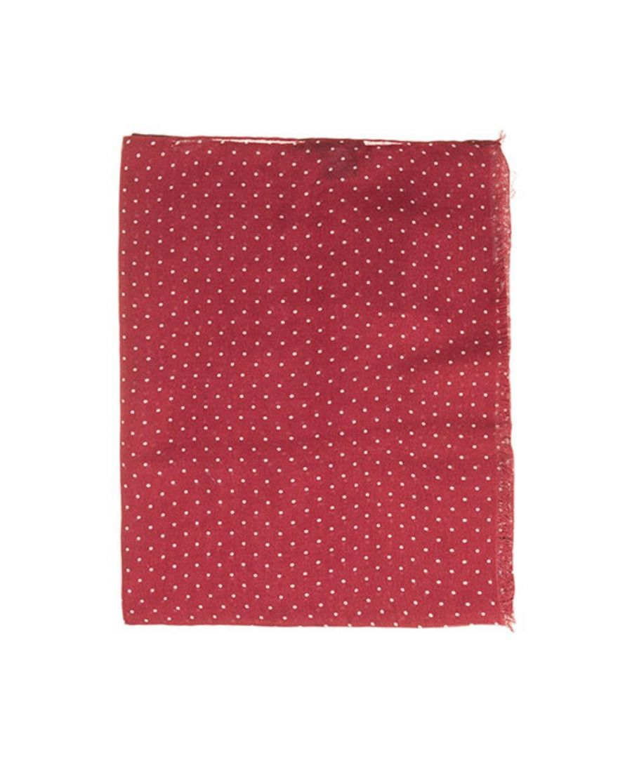Image for Men's Hackett, Perfect Dot Scarf in Red