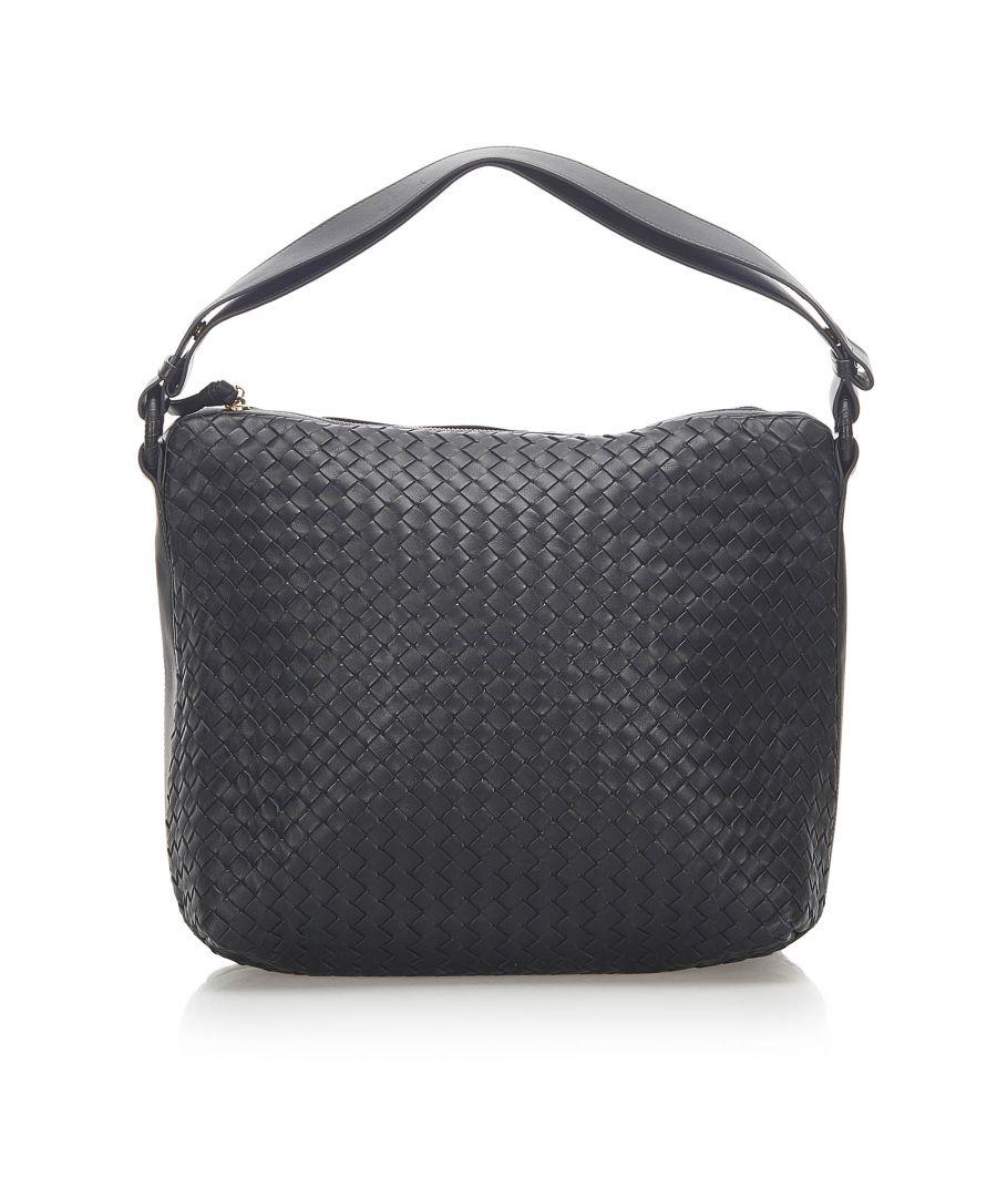 Image for Vintage Bottega Veneta Intrecciato Leather Shoulder Bag Black
