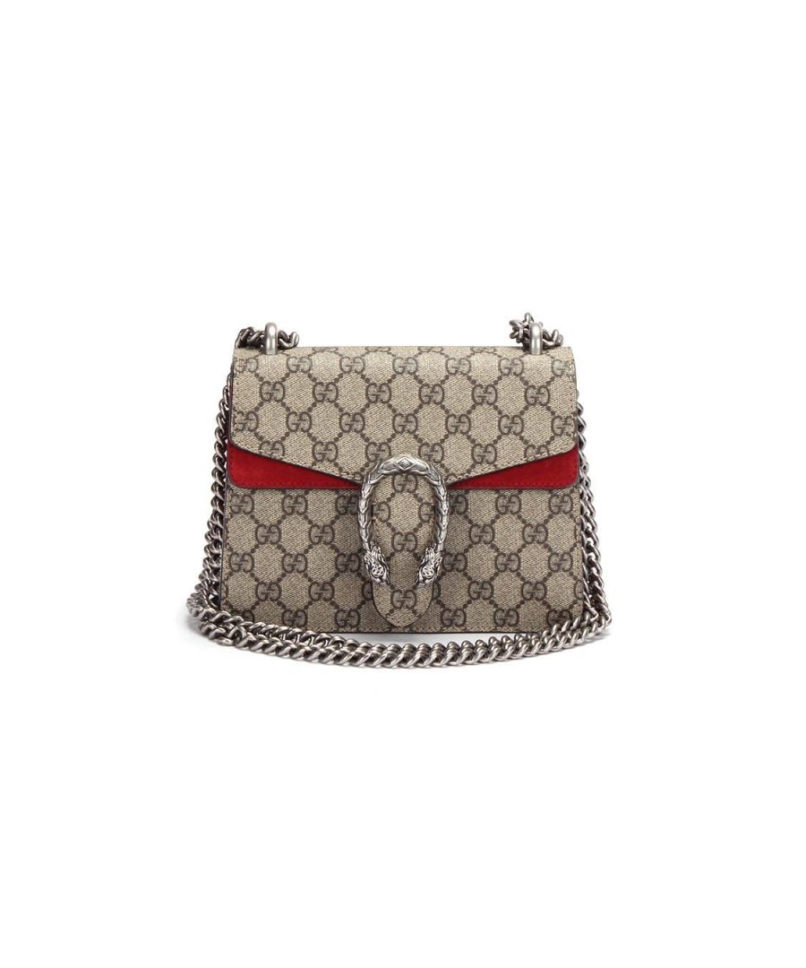 Image for Gucci Mini Gg Supreme Dionysus Waterproof Canvas Shoulder Bag in Brown - Pre Owned Condition Excellent
