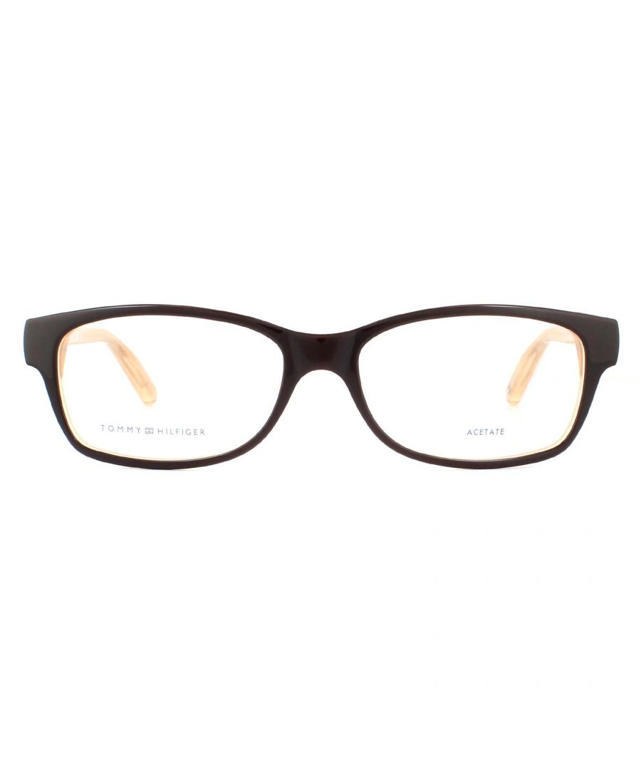 Image for Tommy Hilfiger Glasses Frames TH 1018 GYB Peach Brown Women