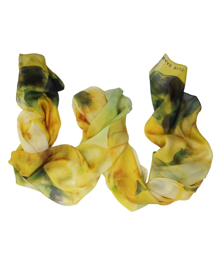 Image for ELIE SAAB WOMEN'S SE7020SC6341 YELLOW SILK SCARF