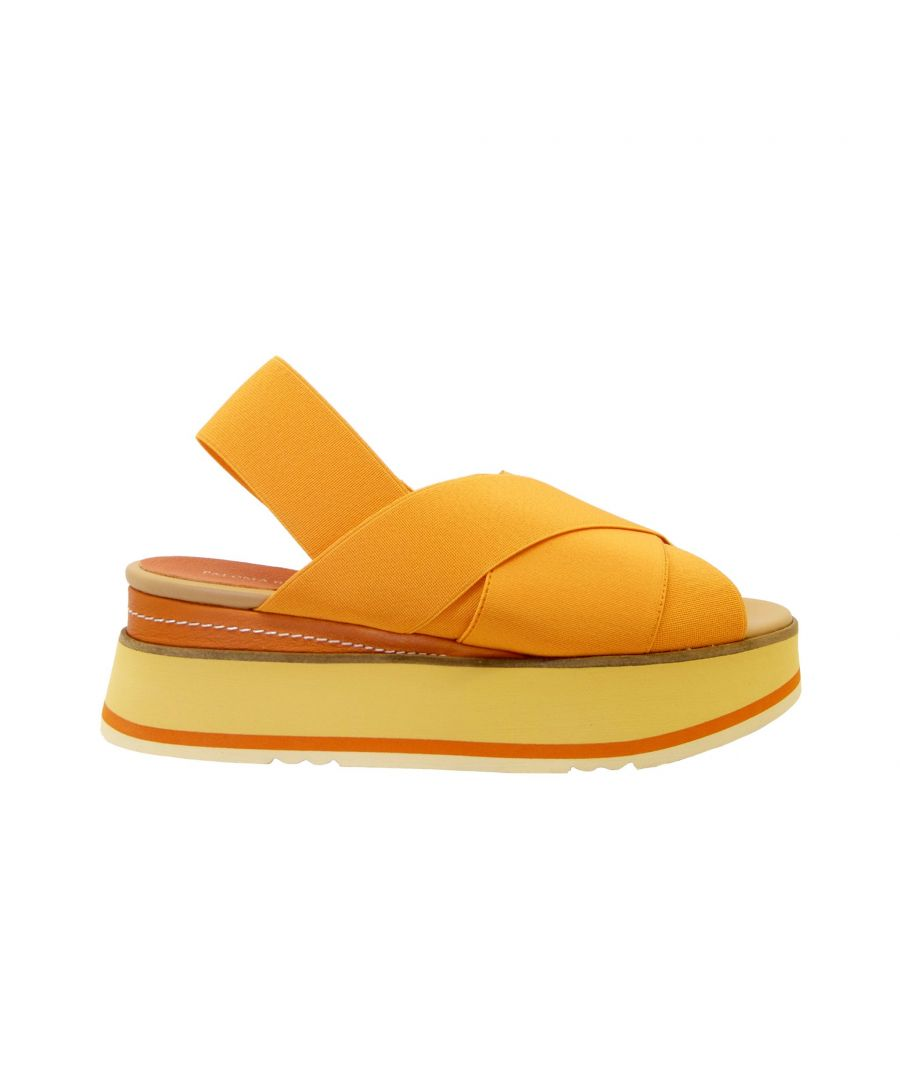 Image for PALOMA BARCELÓ WOMEN'S TOBAGOORANGE ORANGE FABRIC SANDALS