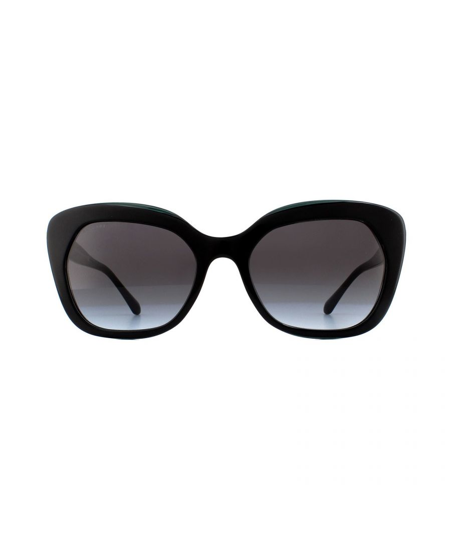Image for Bvlgari Sunglasses BV8213B 54178G Black Green Grey Gradient