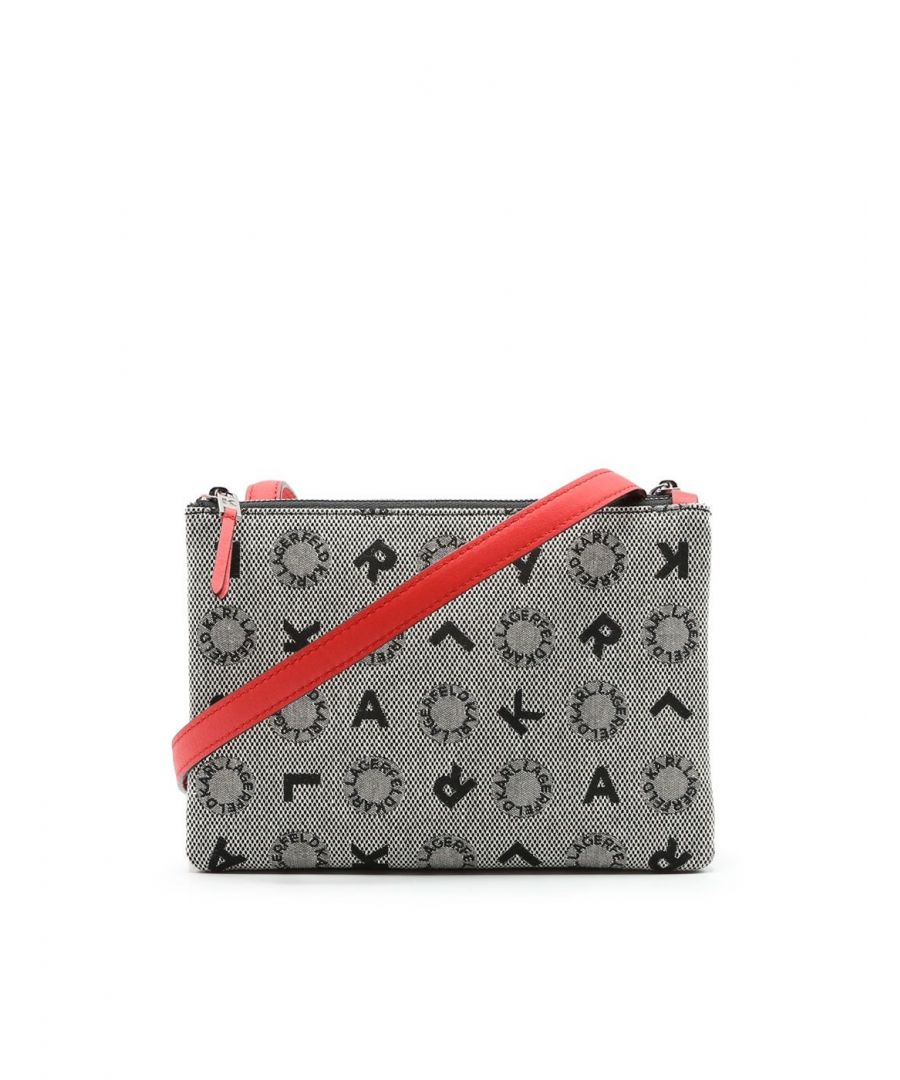 Image for KARL LAGERFELD WOMEN'S 91KW3018RED MULTICOLOR FABRIC SHOULDER BAG
