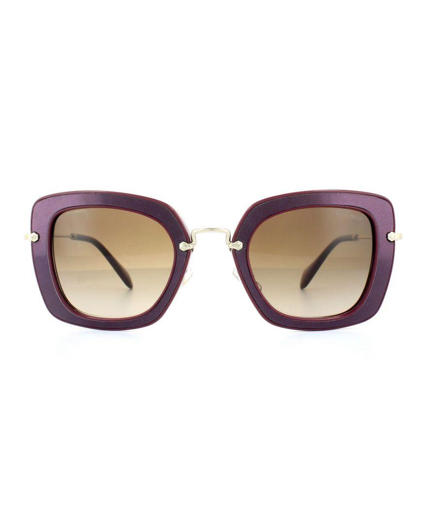 Image for Miu Miu Sunglasses 07OS UFY6S1 Amaranth Brown Gradient