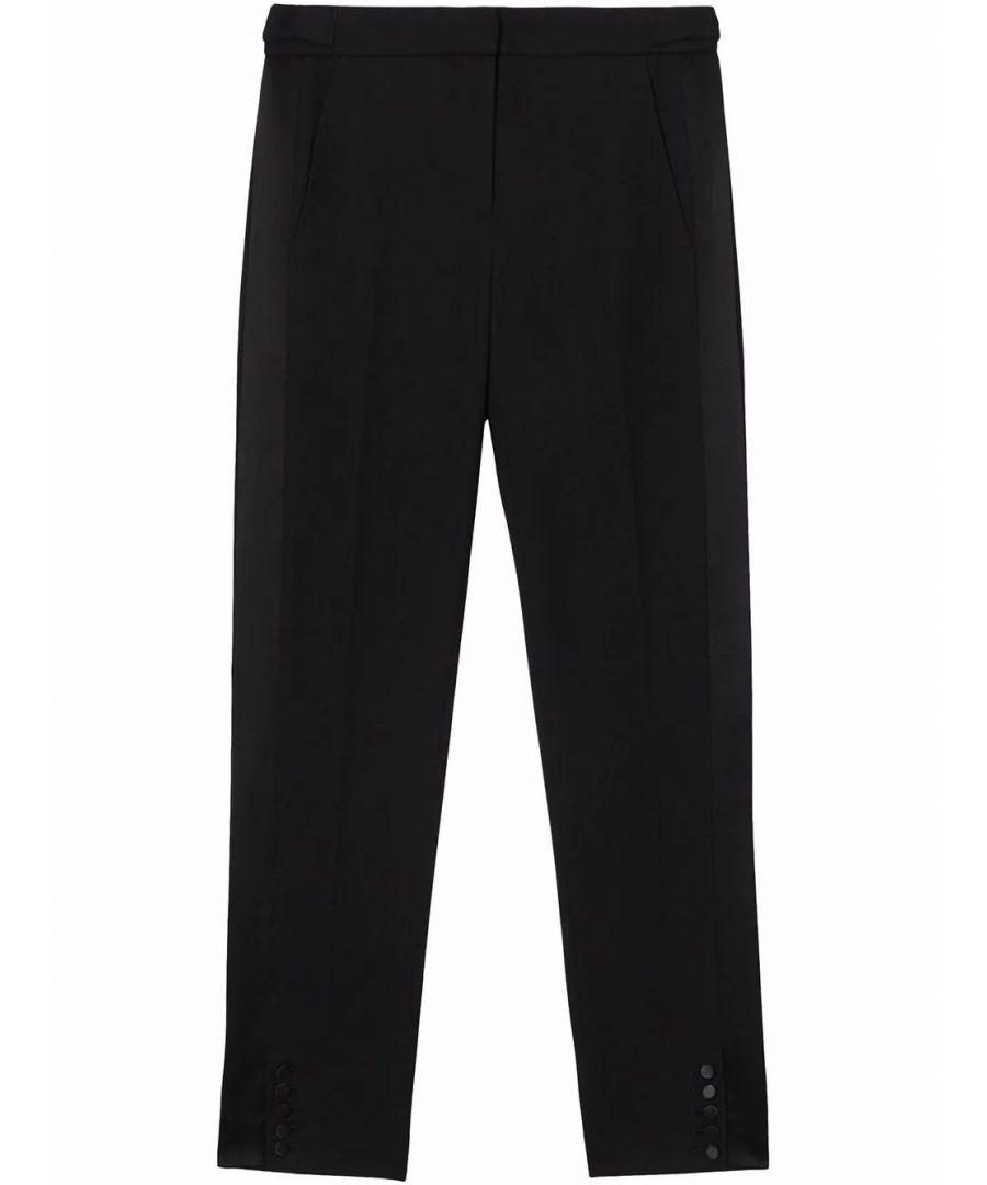 Image for BURBERRY WOMEN'S 8024272 BLACK WOOL PANTS