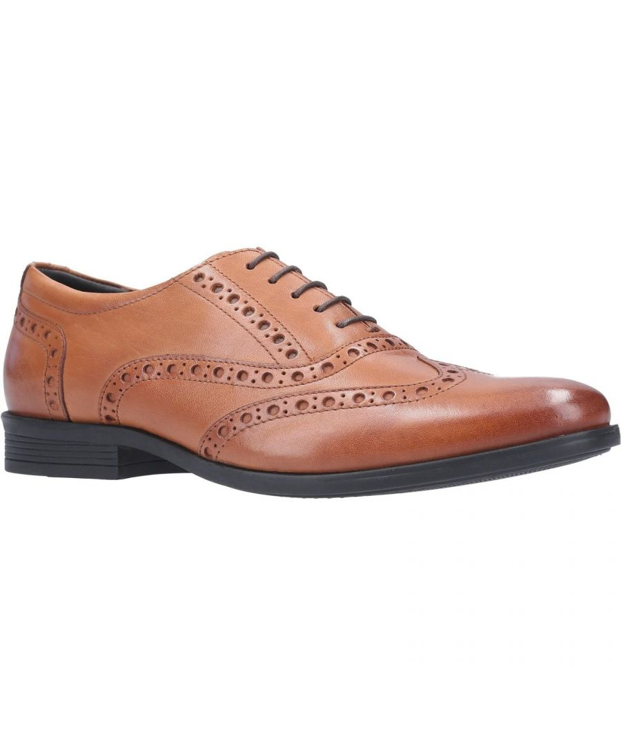Image for Hush Puppies Mens Oaken Brogue Leather Shoe (Brown)