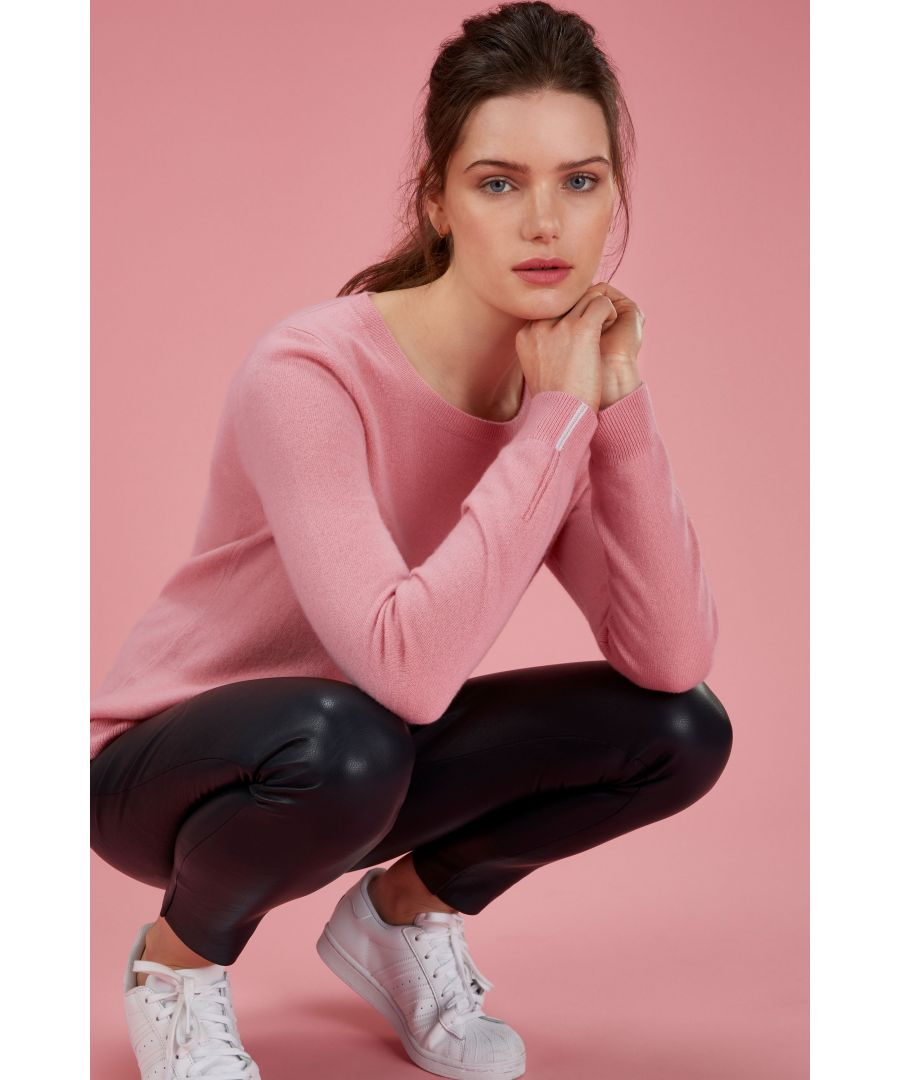 Image for Cashmere Crew Neck Sweater in Tea Rose