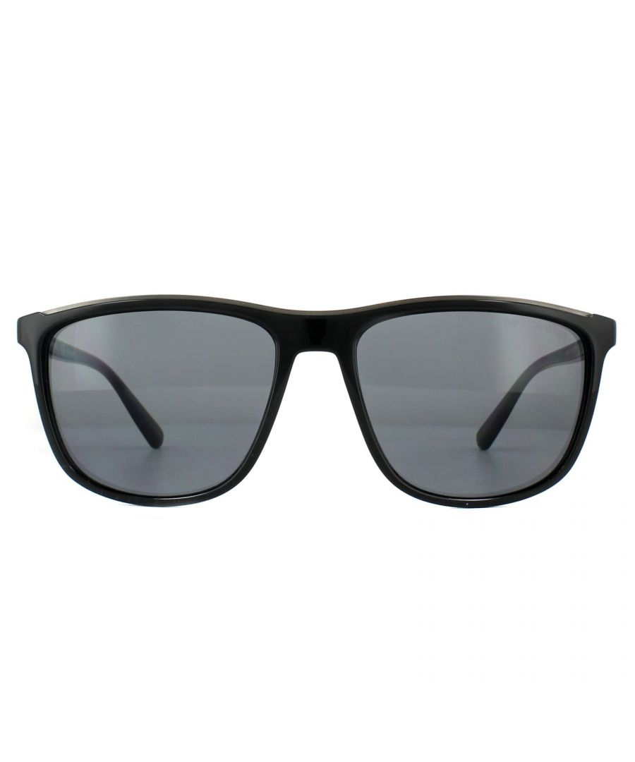 Image for Emporio Armani Sunglasses EA4109 501781 Black Grey Polarized