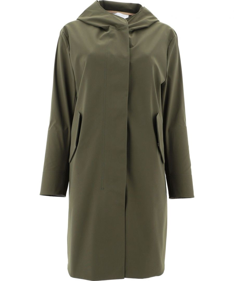 Image for HARRIS WHARF LONDON WOMEN'S A1438PYZ639 GREEN POLYESTER COAT