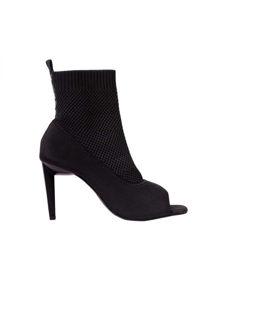 Image for KENDALL + KYLIE WOMEN'S KK2ZIKO01 BLACK SYNTHETIC FIBERS ANKLE BOOTS