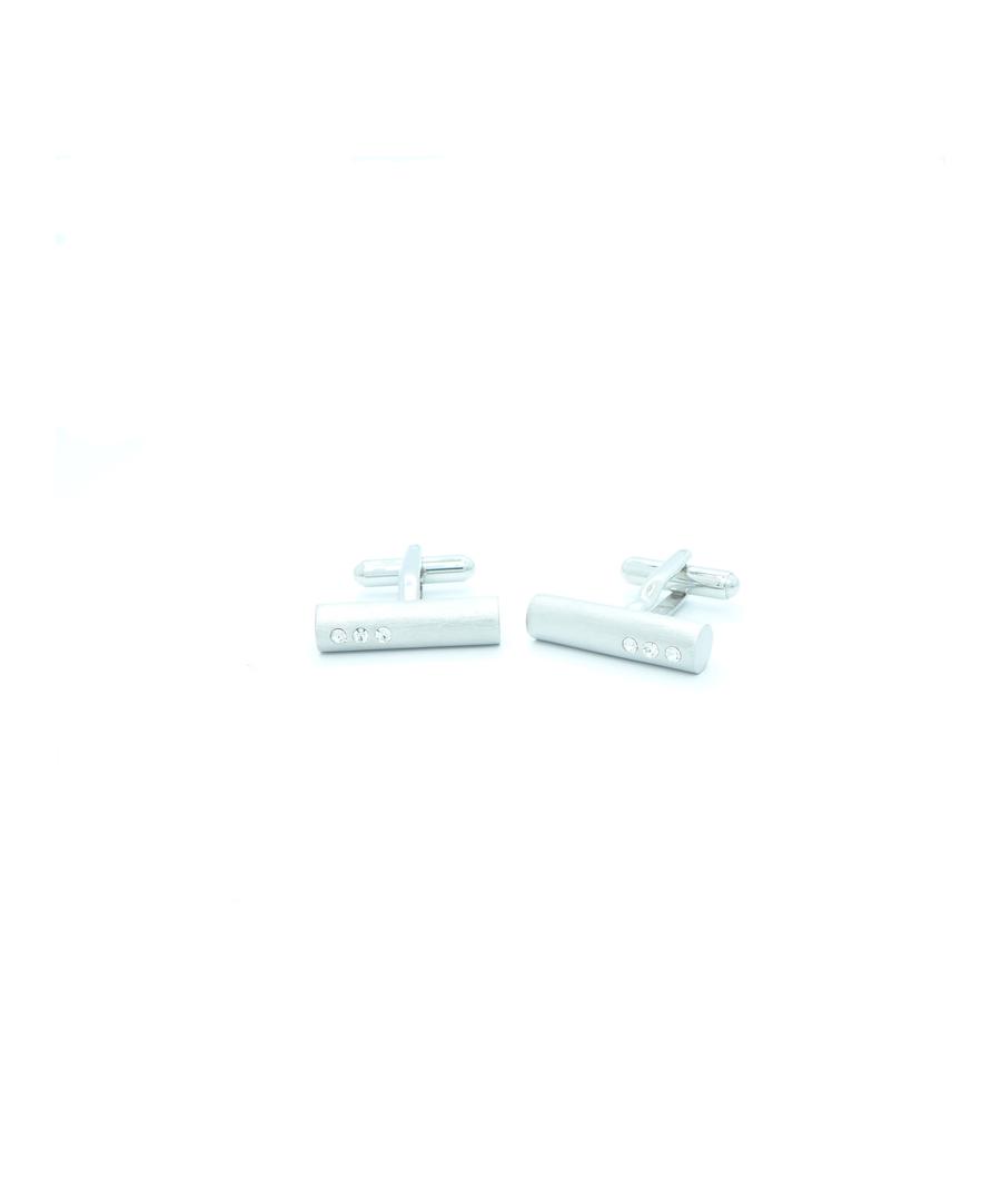 Image for 3 Dot Swarovski Crystal Brushed Tube